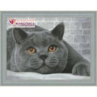 "Картина стразами ""Британский кот"""