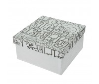 """Коробки для упаковки подарков в технике декупаж """"Квадрат"""""""