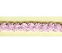 """Резинка декоративная """"шенилл"""" 9,2 мм, цвет розовый"""