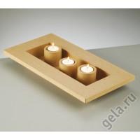 Заготовка д/декупажа в наборе,подсвечник на 3 свечи