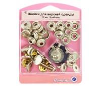 Кнопки для верхней одежды с инструментом для установки