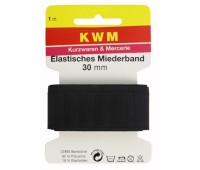 Резинка для пояса HKM, черная, 30 мм