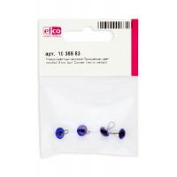 Глазки стеклянные для мишек Тедди и кукол на металлической петле, цвет голубой, диаметр 8 мм