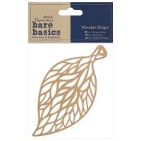"""Декоративный элемент """"Ажурный лист"""" (дерево) Bare Basics"""