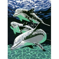 """Картина по номерам """"Дельфины"""""""