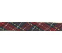 """Косая бейка """"шотландка"""", 18 мм, цвет зелено-красный"""