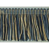 Бахрома 50 мм, цвет меланж (синий, голубой, бежевый)