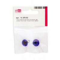 Глазки стеклянные для мишек Тедди и кукол на металлической петле, цвет голубой, диаметр 14 мм