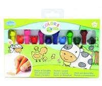 Восковые карандаши для малышей (12 цветов)