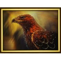 """Набор для изготовления картины со стразами """"Зоркая птица"""" Crystal Art"""