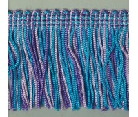 Бахрома 50 мм, цвет меланжевый (голубой, фиолетовый, сиреневый)