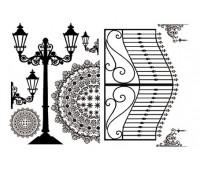 """Набор переводных изображений (Transfer) """"Ворота и уличные фонари"""""""