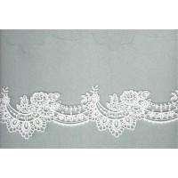 Вышивка на тюле, 105 мм, цвет белый