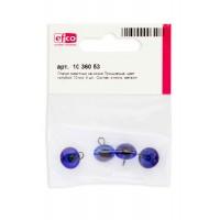 Глазки стеклянные для мишек Тедди и кукол на металлической петле, цвет голубой, диаметр 10 мм