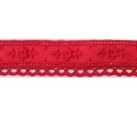 Шитьё с мерсеризованным кружевом, 20 мм, цвет бордово-красный