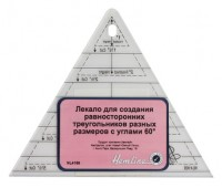 Лекало для создания треугольников с углом 60°