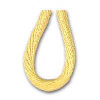 Шнур атласный SAFISA 2 мм, 25 м, цвет 09, светло-желтый