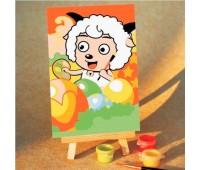 """Картина по номерам """"Белый барашек"""""""
