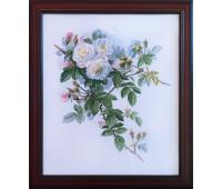 """Вышитая картина """"Белые розы"""""""