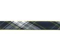 """Косая бейка """"шотландка"""", 18 мм, цвет сине-зеленый"""