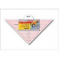"""Линейка-треугольник с углом 90*, градация в дюймах, размер 7 1/2"""" x 15"""""""