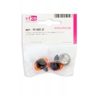 Глазки пластиковые с фиксатором, цвет коричневый, диаметр 20 мм