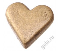 """Заклепки металлические """"Сердца"""", золотистые"""
