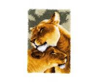 """Набор для вышивания коврика """"Львы II"""""""