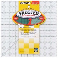 "Линейка для пэчворка ""Frosted"", градация в дюймах, квадрат 9 х 9"""
