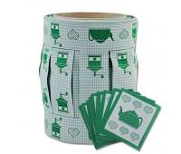 """Комплект: декор. тесьма для штор, """"Кофемолка"""",цвет зеленый,20м"""