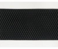 Резинка-пояс декоративный, 60 мм, цвет черный