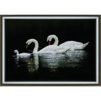 """Набор для изготовления картины со стразами """"Лебединая семья"""" Crystal Art"""