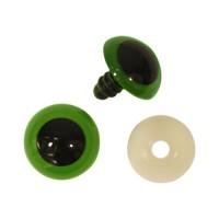 Глазки пластиковые с фиксатором, 22 мм, упак./2 шт., 'Астра' (зеленый)