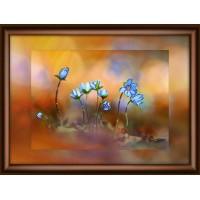 """Набор для изготовления картины со стразами """"Лесные цветы"""" Crystal Art"""