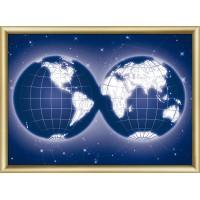 """Набор для изготовления картины со стразами """"Карта мира"""" Crystal Art"""