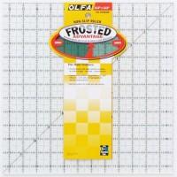 "Линейка для пэчворка ""Frosted"", градация в дюймах, квадрат 12"" х 12"""
