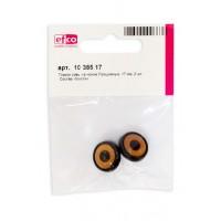Глазки пластиковые на ножке для совы, цвет янтарный, диаметр 17 мм