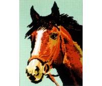 """Канва жесткая с 2 рисунками """"Голова рыжего коня"""""""