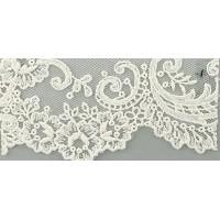 Вышивка на тюле, 90 мм, цвет белый