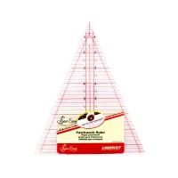 """Линейка-треугольник с углом 45*, градация в дюймах, размер 8 1/2"""" x 7"""""""