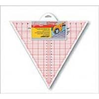 """Линейка-треугольник с углом 60*, разметка в дюймах, размер 12"""" x 13 7/8"""""""