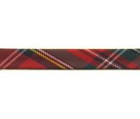 """Косая бейка """"шотландка"""", 18 мм, цвет красно-зеленый"""