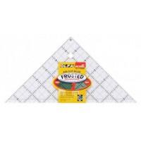 """Линейка-треугольник для пэчворка """"Frosted"""", градация в дюймах, размер 6"""""""