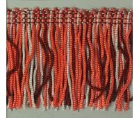 Бахрома 50 мм, цвет меланжевый (бургунд, коралловый, серый)