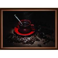 """Набор для изготовления картины со стразами """"Кофейное наслаждение"""" Crystal Art"""
