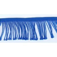 Бахрома витая, 60 мм, цвет васильковый