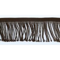 Бахрома витая, 60 мм, цвет темно-коричневый
