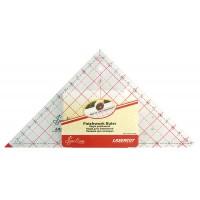 """Линейка-треугольник с углом 90*, градация в дюймах, 7 1/2"""" x 7 7/8"""""""