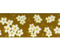 Резинка декоративная, 30 мм, цвет горчичный, 10 м