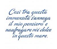 """Трафарет """" Infinito (Giacomo Leopardi )"""""""